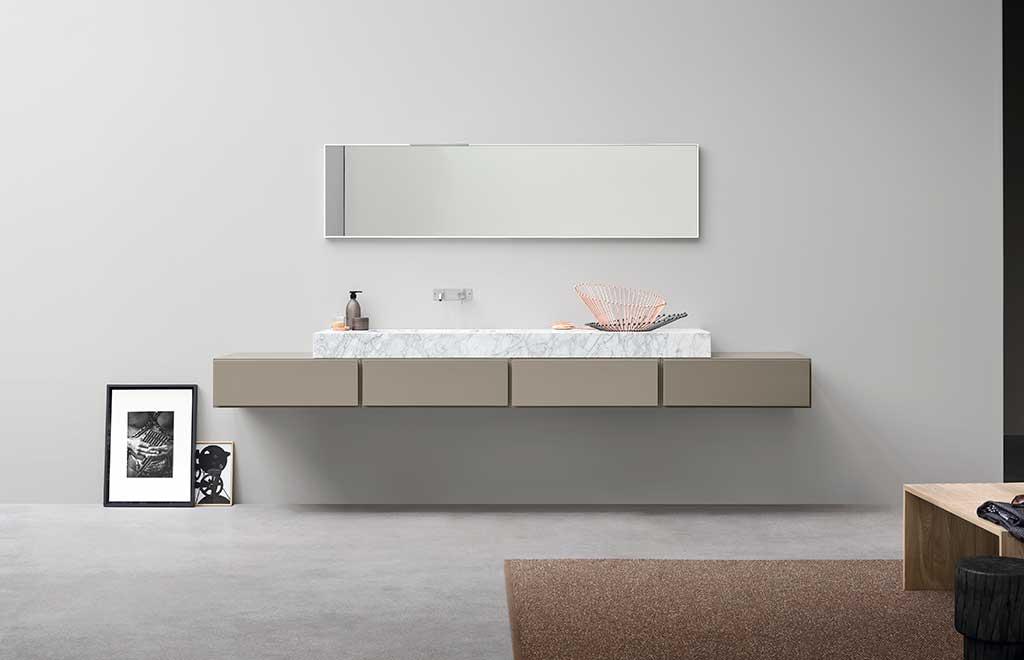 lavabo rettangolare appoggio marmo bianco