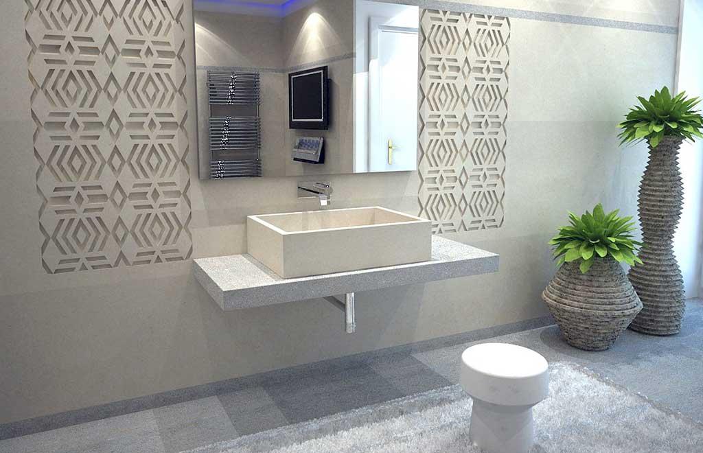 lavabo pietra beige