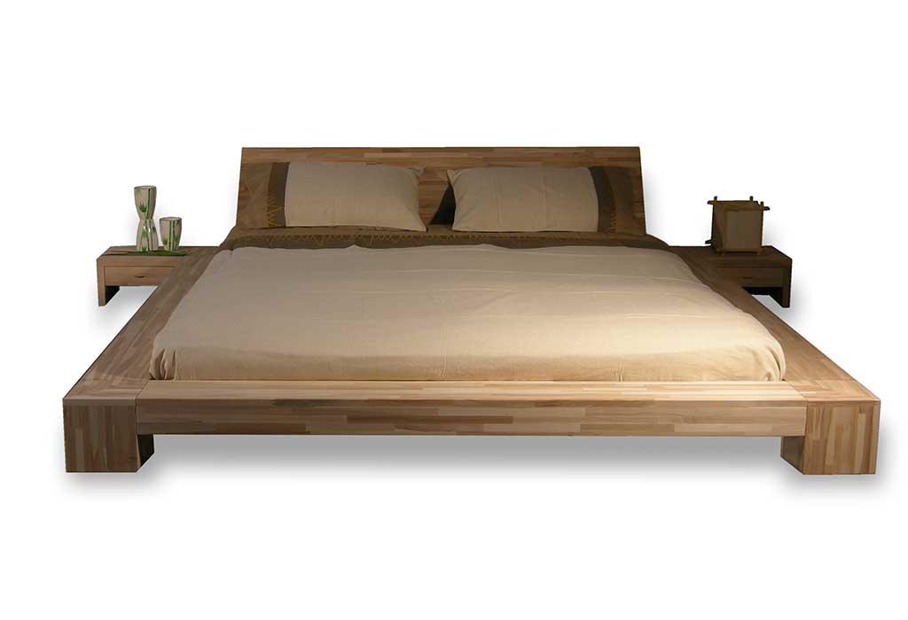 letto legno stile giapponese