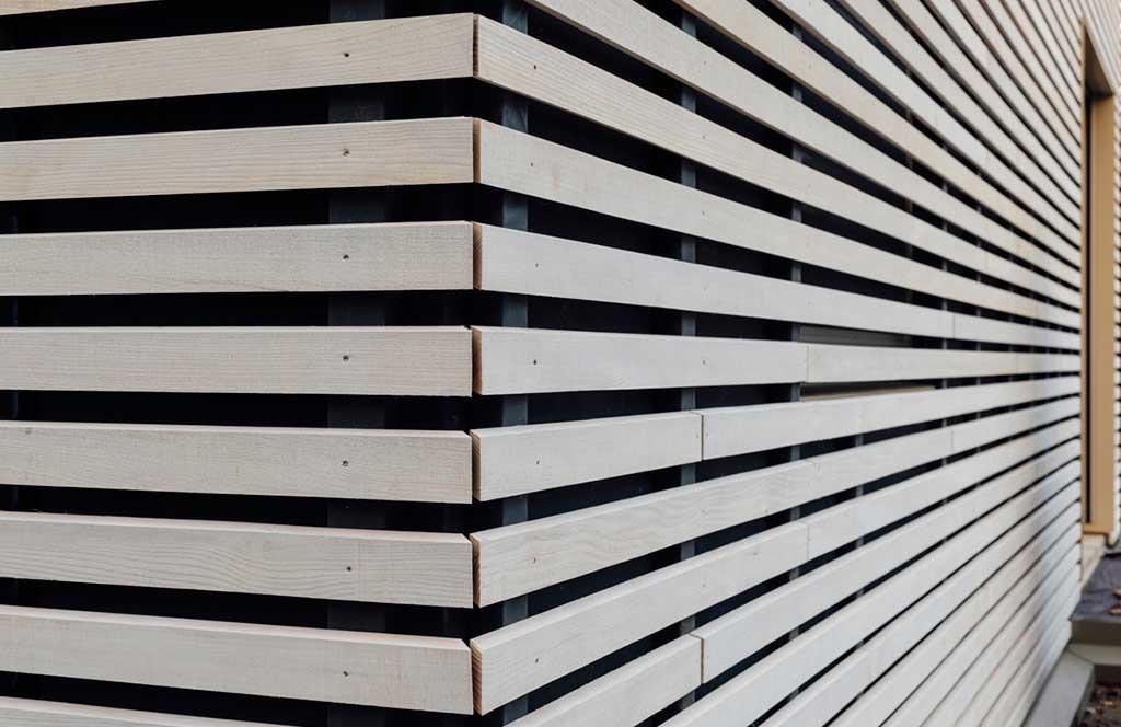 rivestimento legno pergola house