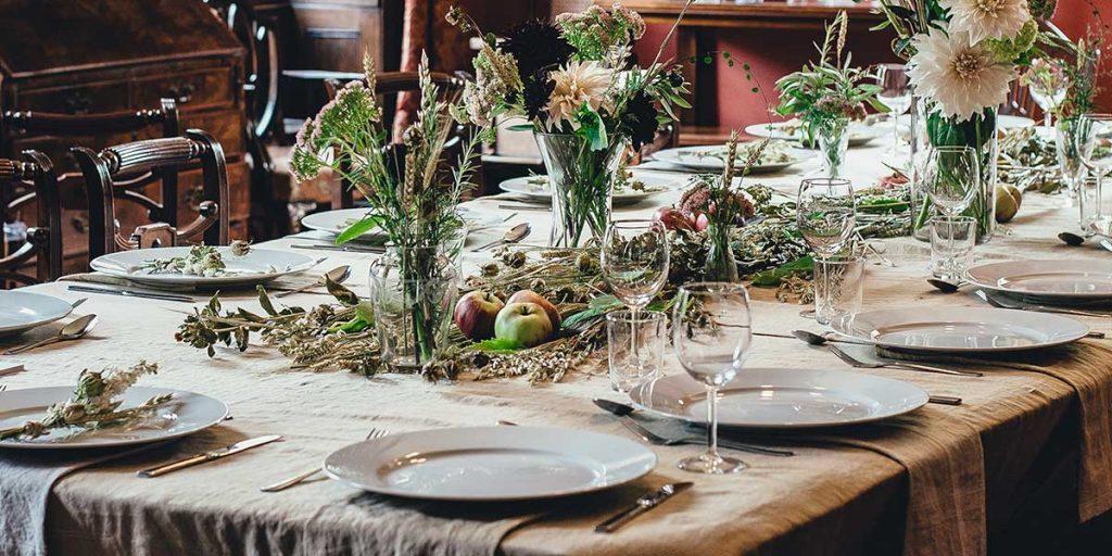 tavola apparecchiata elegante