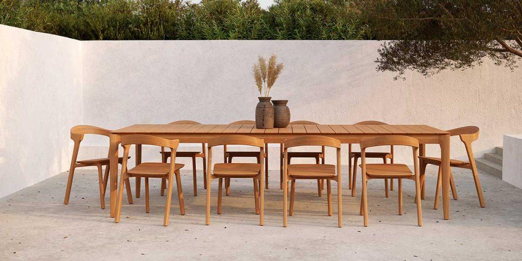 tavolo e sedie esterno legno massello