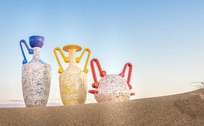 vasi colorati manici design