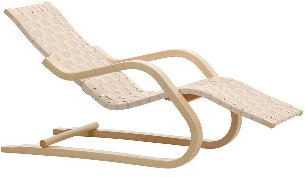 chaise longue legno chiaro