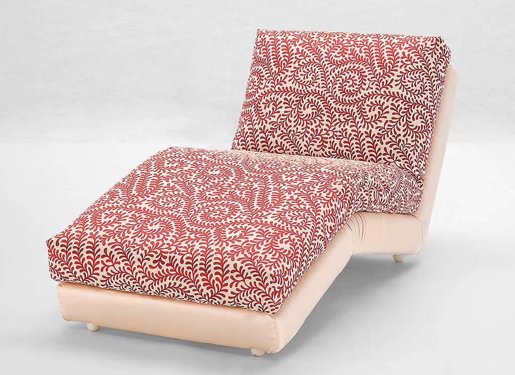 chaise longue tessuto damasco