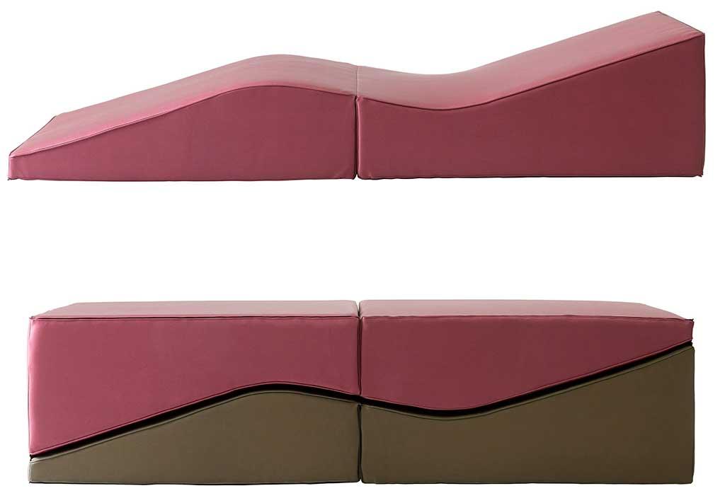 chaise longue pouf tavolino