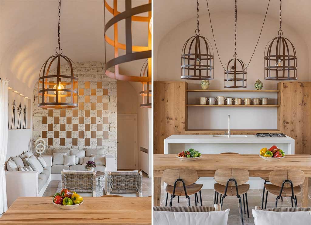 cucina e sala pranzo masseria