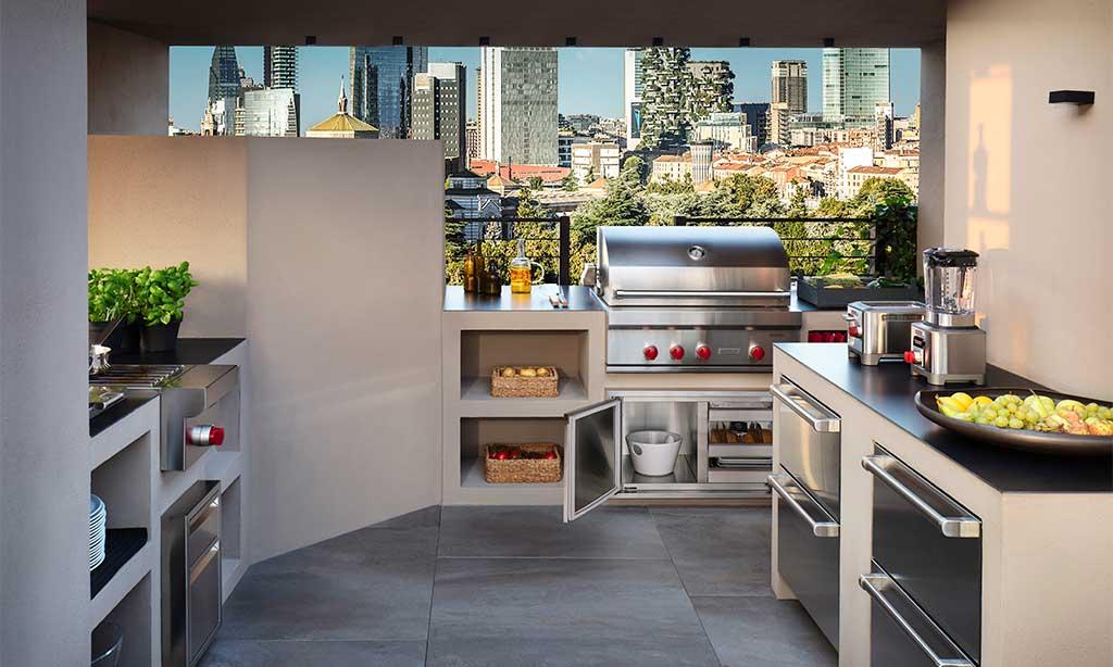 cucina esterno terrazzo