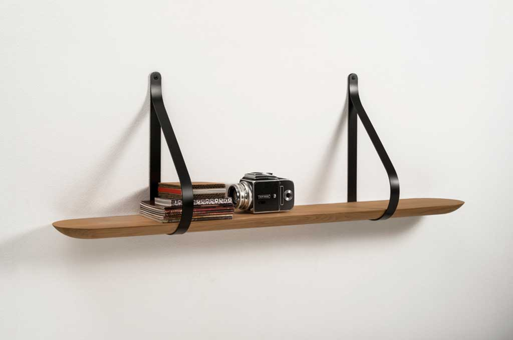mensola legno cinghie