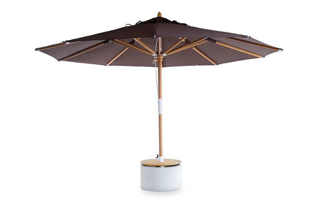 ombrellone tondo marrone