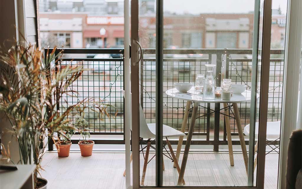 prima colazione balcone