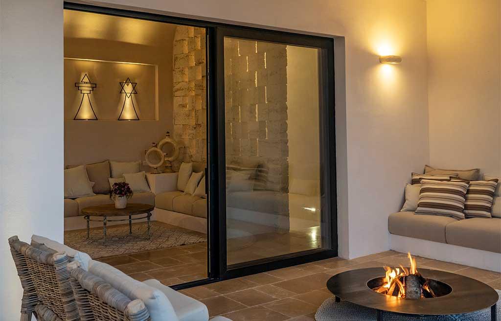 salotto e zona relax esterno