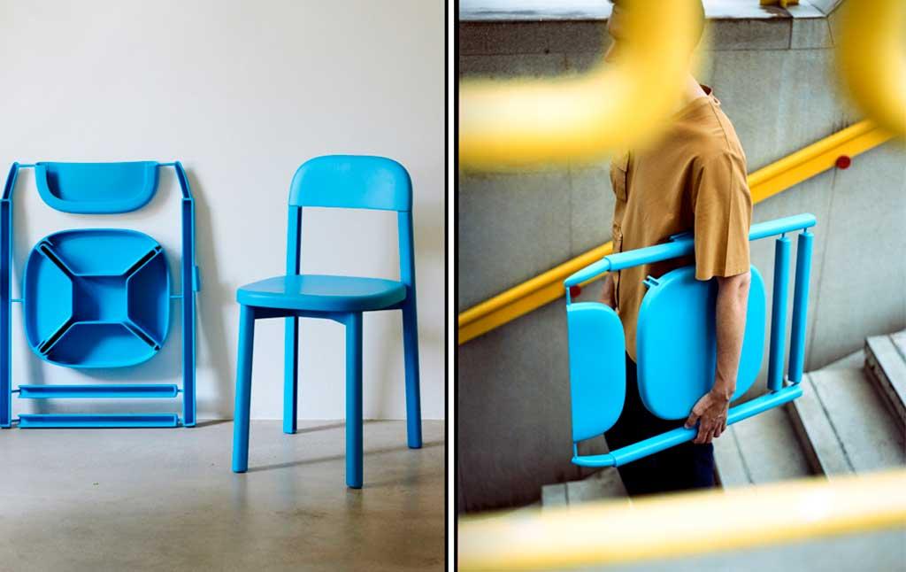 sedia plastica smontabile