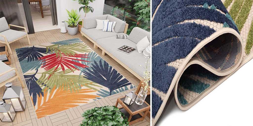 tappeto multicolor esterno