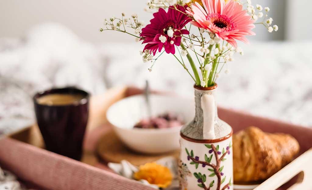 vassoio vasetto fiori