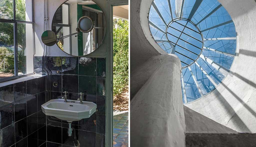bagno ospiti e scala solarium chiocciola