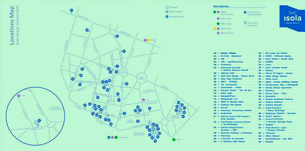 mappa location isola design district