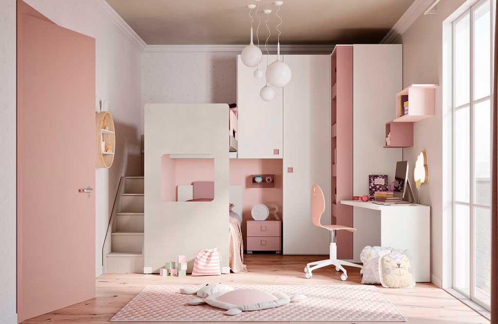 cameratta doppio letto integrato armadio