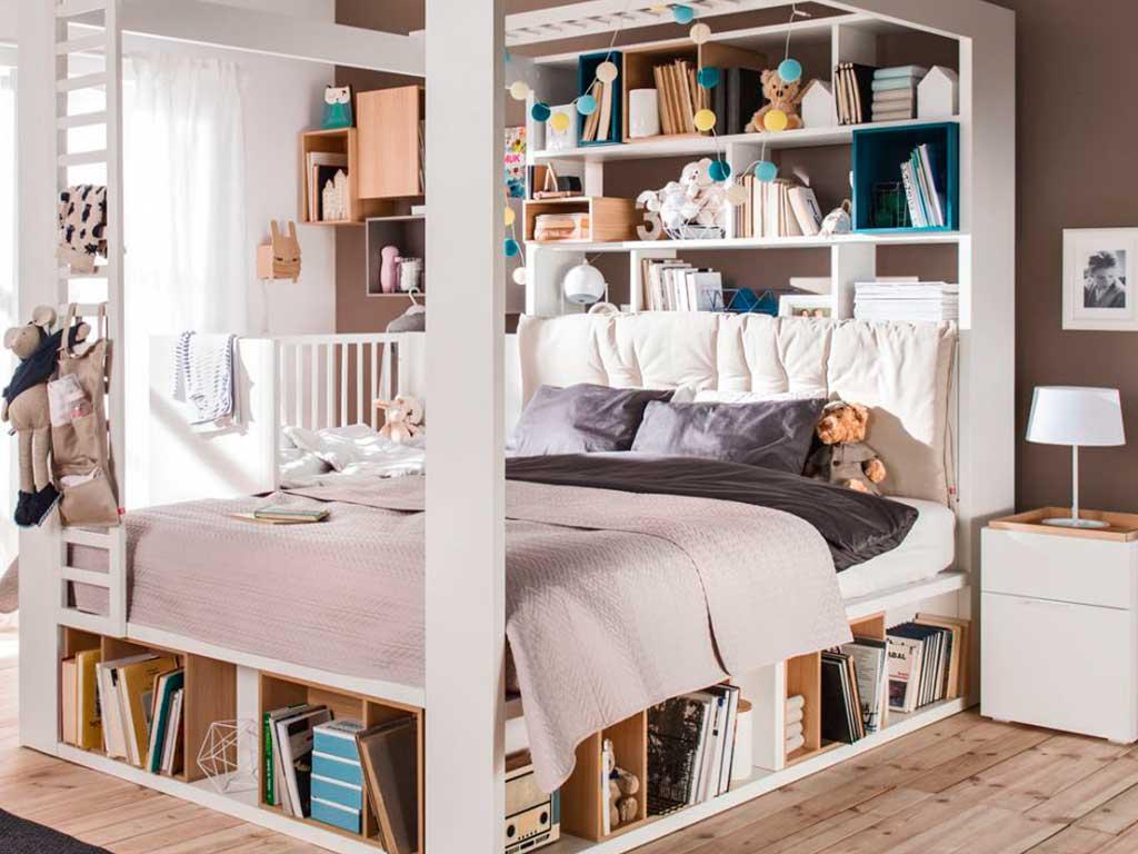 letto baldacchino libreria