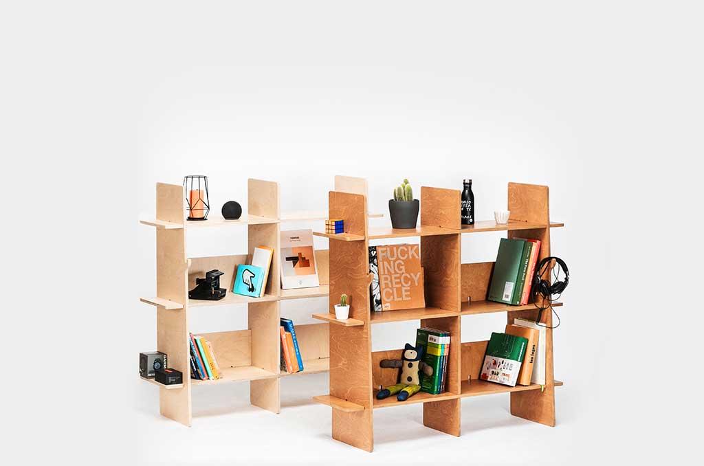 librerie incastro legno