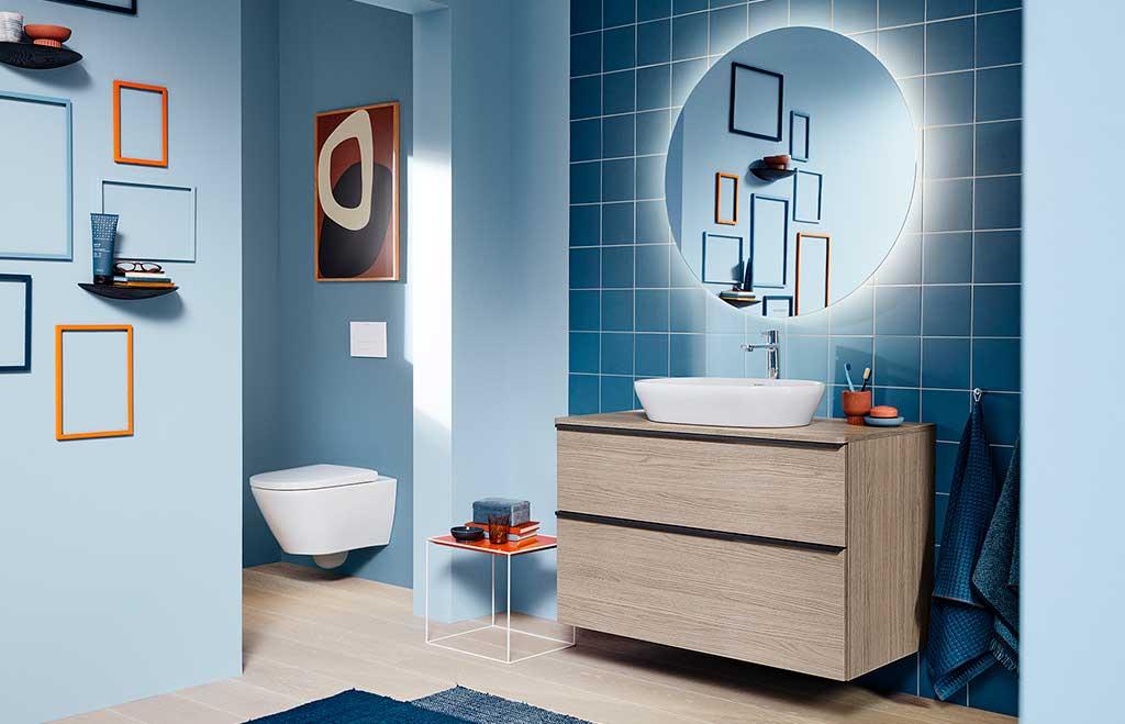 mobile bagno legno chiaro