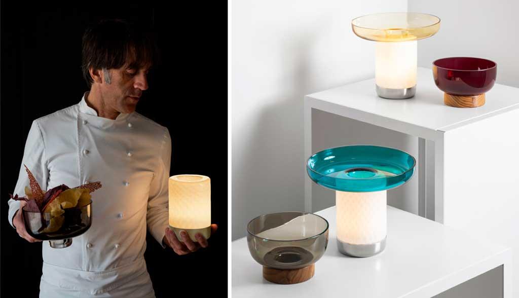 lampada portatile tavola con ciotola