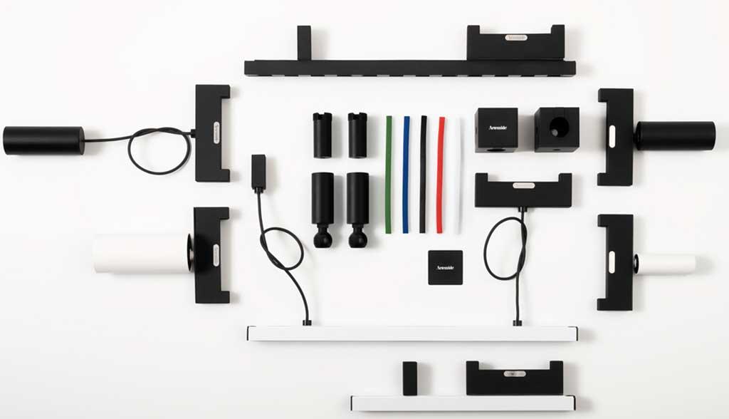 componenti sistema modulare luce cavo